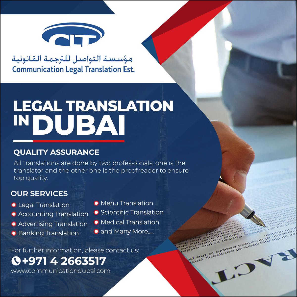 Legal Translation Company in Dubai